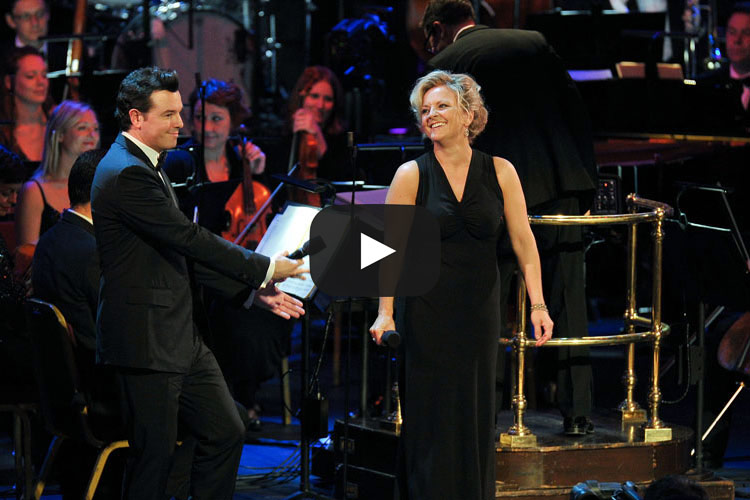 Claire Martin, OBE with Seth MacFarlane at the Royal Albert Hall